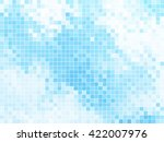 abstract square pixel mosaic... | Shutterstock .eps vector #422007976