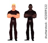 two male security  vector...   Shutterstock .eps vector #422009122
