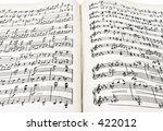 an old partiture book   Shutterstock . vector #422012