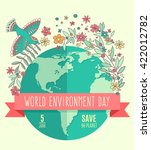 world environment day concept... | Shutterstock .eps vector #422012782