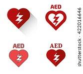 defibrillator icons set | Shutterstock .eps vector #422016646