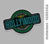hollywood  california linear... | Shutterstock .eps vector #422021416