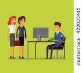business concept. cartoon...   Shutterstock .eps vector #422025415