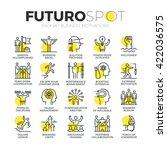 stroke line icons set of... | Shutterstock .eps vector #422036575