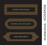eastern gold frame arabic... | Shutterstock .eps vector #422039206