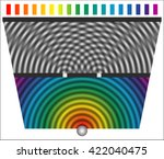 two slit diffraction pattern by ... | Shutterstock .eps vector #422040475