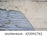 white concrete wall crack | Shutterstock . vector #422041762