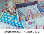 box with things for baby | Shutterstock . vector #422052112