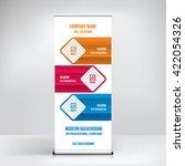 banner roll up design ... | Shutterstock .eps vector #422054326
