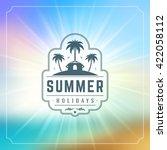 summer holidays typography... | Shutterstock .eps vector #422058112