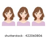 pretty style person | Shutterstock . vector #422060806
