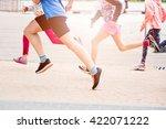 children running in the park  ... | Shutterstock . vector #422071222