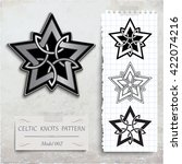 celtic knots patterns on a... | Shutterstock .eps vector #422074216
