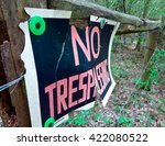 A \'no Trespassing\' Sign In The...