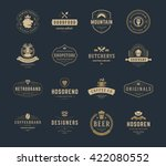 vintage logos design templates... | Shutterstock .eps vector #422080552