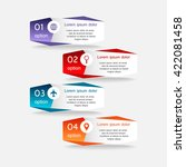 colorful infographics template...   Shutterstock .eps vector #422081458