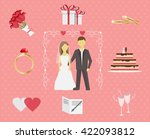 wedding ceremony of the couple. ... | Shutterstock .eps vector #422093812