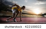 sport. sprinter leaving... | Shutterstock . vector #422100022