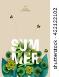 summer card with elements of... | Shutterstock .eps vector #422122102