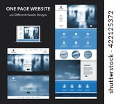 one page website design... | Shutterstock .eps vector #422125372