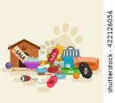 dog stuff and supply icons flat ... | Shutterstock .eps vector #422126056