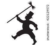 silhouette of a chimney sweep... | Shutterstock .eps vector #422129572