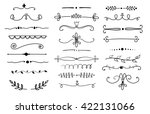 big set of hand drawn text... | Shutterstock .eps vector #422131066