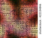 abstract seamless vector tribal ... | Shutterstock .eps vector #422134846