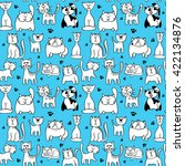vector seamless pattern with... | Shutterstock .eps vector #422134876