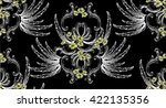 pattern with baroque damask... | Shutterstock .eps vector #422135356
