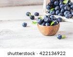 Freshly Picked Blueberries In...