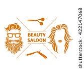 beauty saloon logo  vector... | Shutterstock .eps vector #422147068