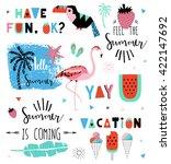 summer lettering scandinavian... | Shutterstock .eps vector #422147692