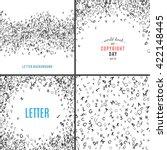set of random letters patterns. ... | Shutterstock .eps vector #422148445