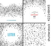 Set Of Random Letters Patterns...