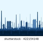 oil and gas refinery or... | Shutterstock .eps vector #422154148