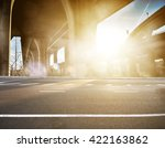 concrete road curve of viaduct... | Shutterstock . vector #422163862