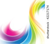 Rainbow gradient mesh background with place for text for business artwork - stock vector
