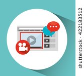 media player  design  | Shutterstock .eps vector #422183512