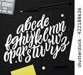 hand lettering and custom... | Shutterstock .eps vector #422188636