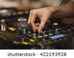 hand detail of a dj using the... | Shutterstock . vector #422193928