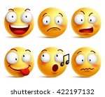 smiley face icons or emoticons... | Shutterstock .eps vector #422197132