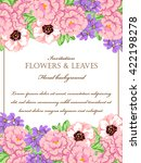 invitation with floral... | Shutterstock .eps vector #422198278