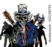 zombie uncle sam vector... | Shutterstock .eps vector #422198755