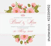 invitation or wedding card with ... | Shutterstock .eps vector #422204902