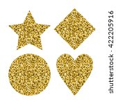 golden glitter design elements  ... | Shutterstock .eps vector #422205916