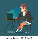 businessman working at home.... | Shutterstock .eps vector #422206852