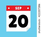 calendar icon flat september 20