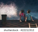 Two Cute Children Sit On The...