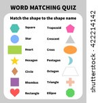 basic shapes matching quiz.... | Shutterstock .eps vector #422214142